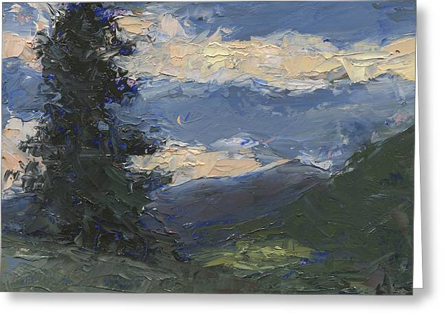 Mt Baldy Greeting Card by John Holdway