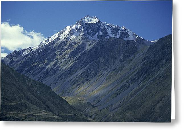 Snow Capped Greeting Cards - Mt Cook NZ Greeting Card by Doug Davidson