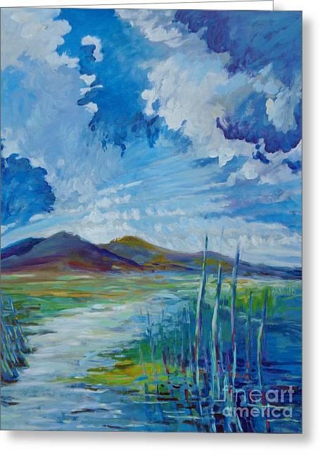 Mt. Diablo And The Great Basin Greeting Card by Vanessa Hadady BFA MA