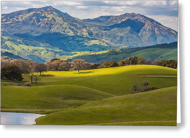 Mt. Diablo On A Spring Afternoon Greeting Card by Marc Crumpler