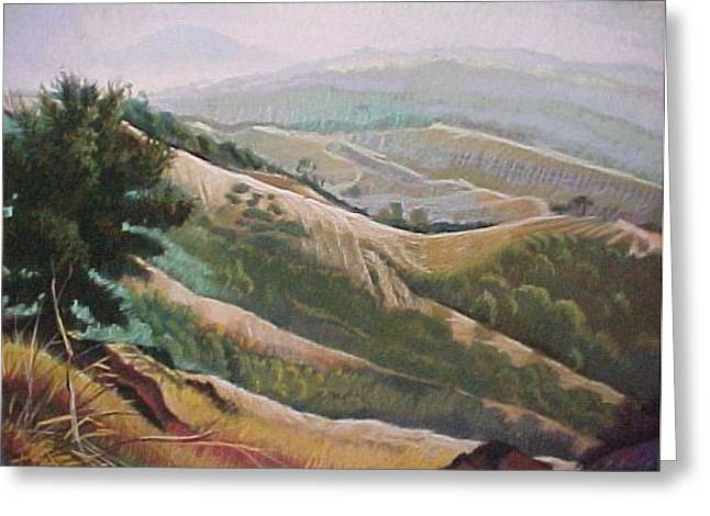 Muted Pastels Greeting Cards - Mt Diablo View Greeting Card by Bobbi Baltzer-Jacobo