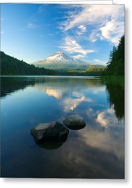 Mt Hood Greeting Cards - Mt. Hood Cirrus Explosion Greeting Card by Mike  Dawson
