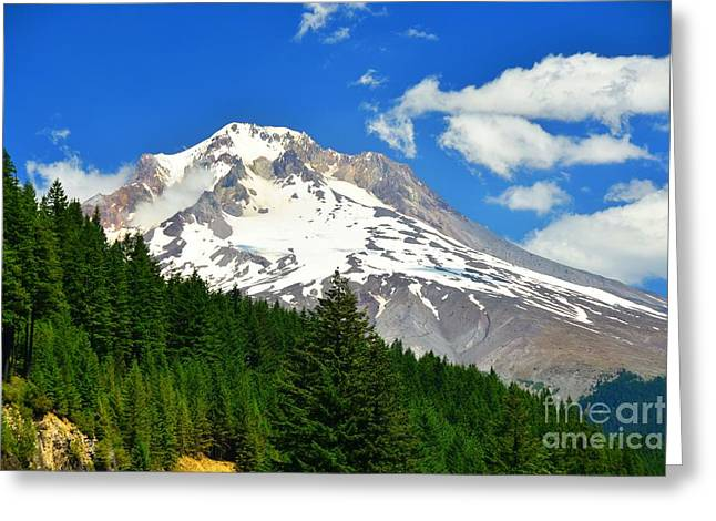 Snow Capped Greeting Cards - Mt Hood Greeting Card by Scott Cameron