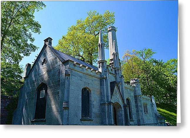 Mt. Hope Cemetery Architecture Greeting Card by Richard Jenkins