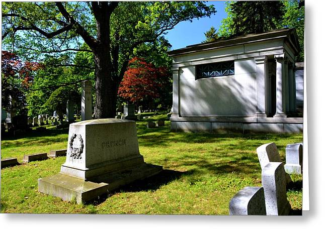 Mt. Hope Grave Site Greeting Card by Richard Jenkins