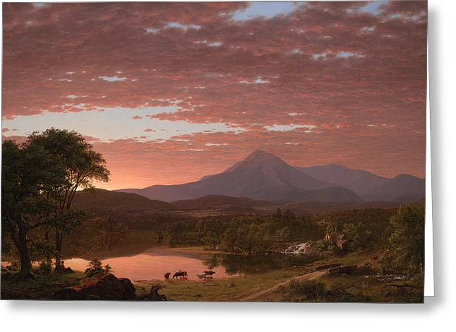 Mt Katahdin Greeting Card by Mountain Dreams