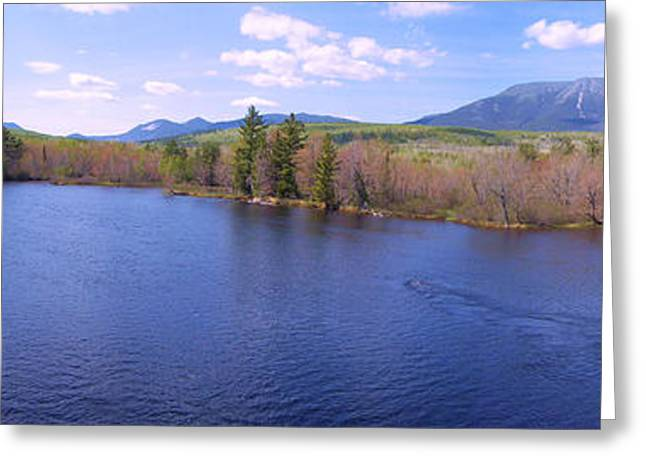 Maine Spring Greeting Cards - Mt Katahdin Greeting Card by Tim  Canwell