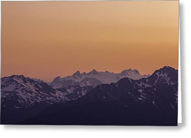 Snow Capped Greeting Cards - Mt Olympus Sunset Greeting Card by Curtis Knight