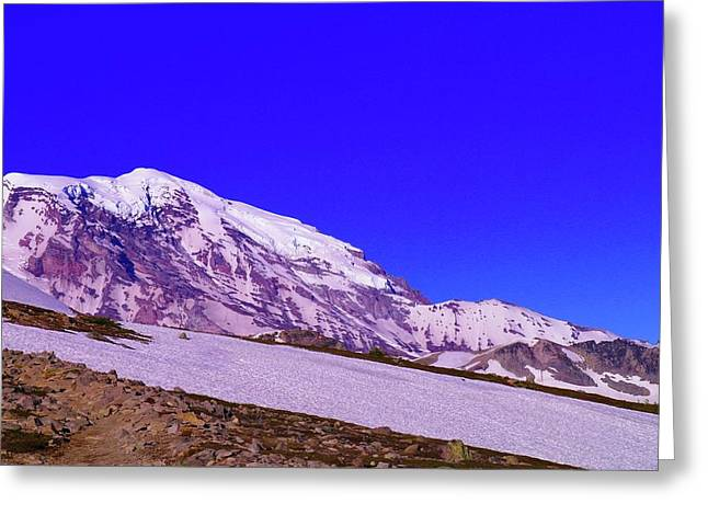 Sour Greeting Cards - Mt Rainer  Greeting Card by Jeff  Swan