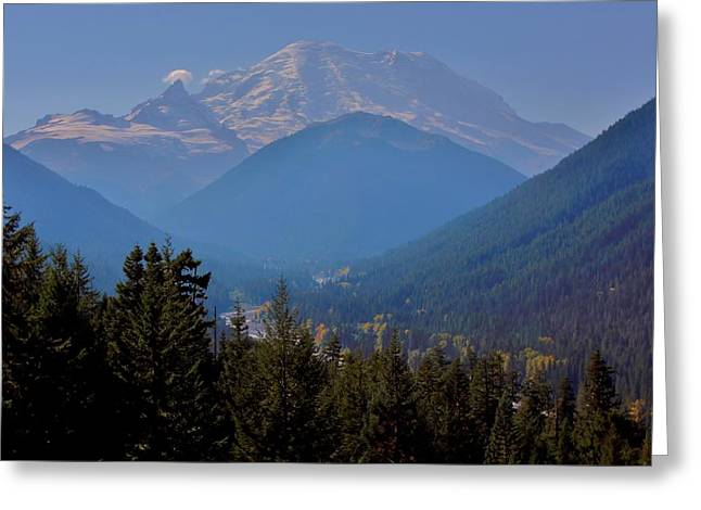 Print Photographs Greeting Cards - Mt. Rainier White River Valley Greeting Card by Stacie Gary