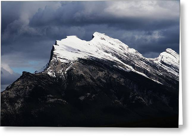 Rundle Greeting Cards - Mt. Rundle Greeting Card by Monte Arnold