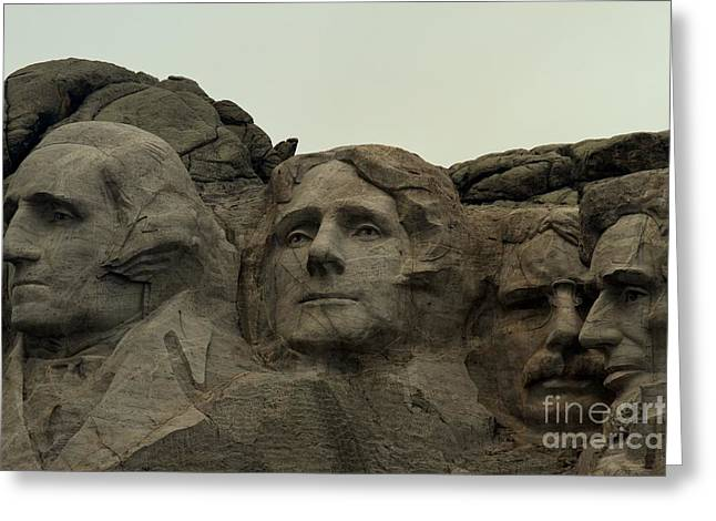 Gutzon Greeting Cards - Mt. Rushmore Presidents Greeting Card by Adam Jewell