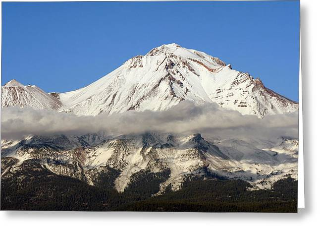 Mt. Shasta Greeting Cards - Mt. Shasta Summit Greeting Card by Holly Ethan