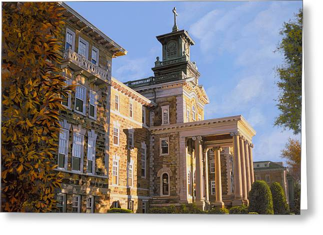 Buildings Greeting Cards - Mt St.Mary Academy Greeting Card by Guido Borelli