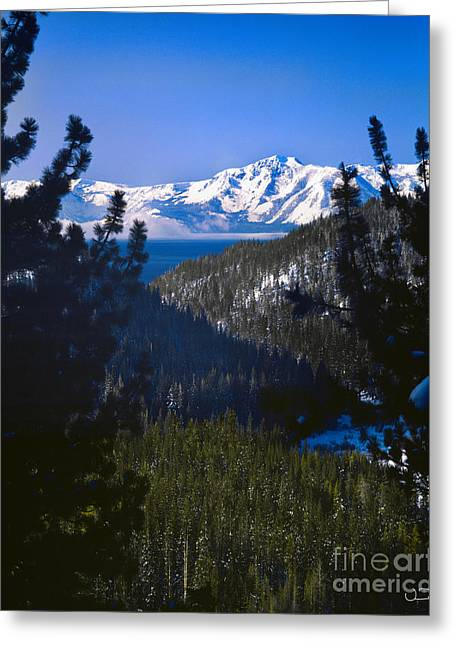 Mountain Valley Greeting Cards - Mt Tallac Lake Tahoe Greeting Card by Vance Fox
