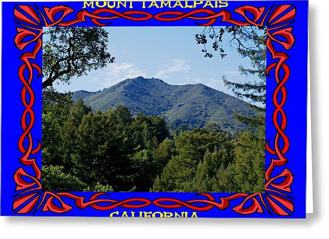 Marin County Greeting Cards - Mt Tamalpais Framed 6 Greeting Card by Ben Upham