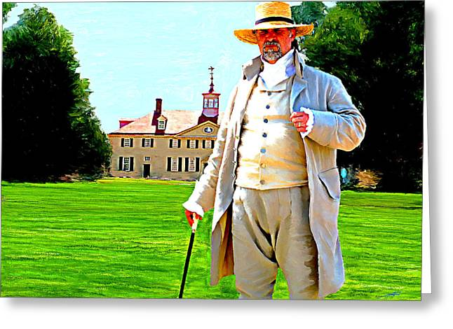 Slaves Greeting Cards - Mt. Vernon Caretaker Greeting Card by Tim Tompkins