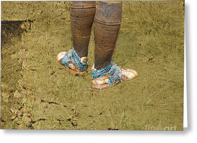 Tennis Shoes Greeting Cards - Mud Fashion  Greeting Card by Steven  Digman