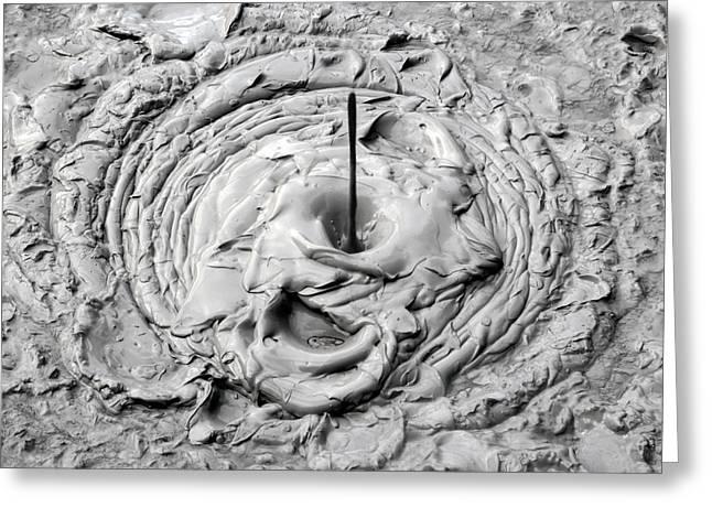 Porridge Greeting Cards - Mud Pool Greeting Card by Nicholas Blackwell