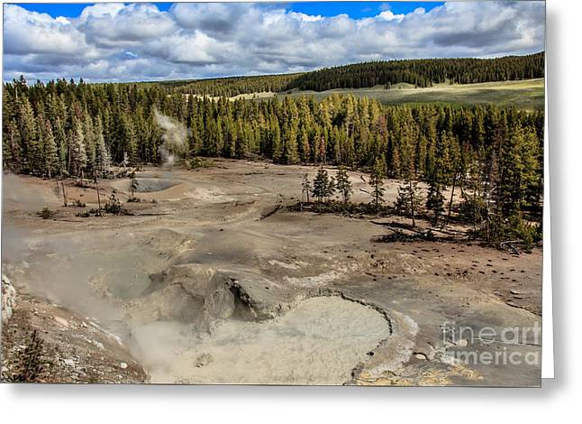 Mud Volcano Greeting Card by Robert Bales
