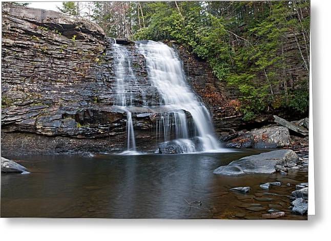 Muddy Creek Falls In Swallow Falls State Park Maryland Greeting Card by Brendan Reals