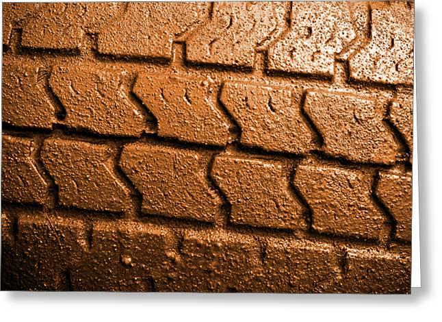 Muddy Tire Greeting Card by Carlos Caetano