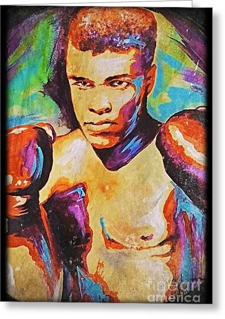 Muhammad Ali Greeting Card by Amy Belonio