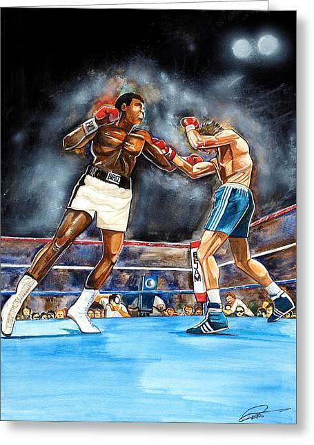 Muhammad Ali Greeting Card by Dave Olsen