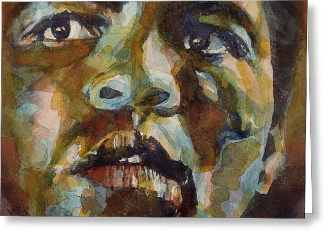 Boxing Greeting Cards - Muhammad Ali   Greeting Card by Paul Lovering