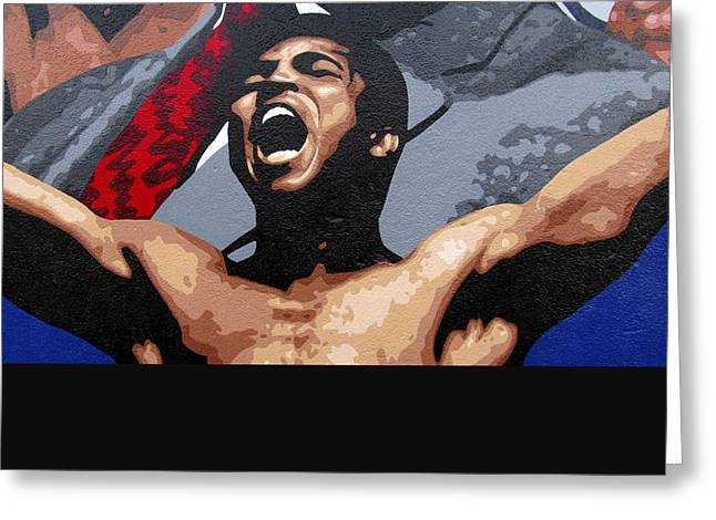Empowerment Greeting Cards - Muhammad Ali Greeting Card by Roberto Valdes Sanchez