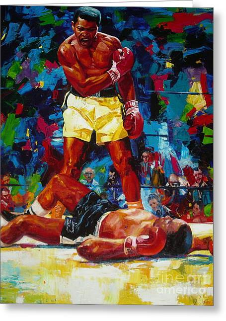 Sergey Ignatenko Greeting Cards - Muhammad Ali Greeting Card by Sergey Ignatenko