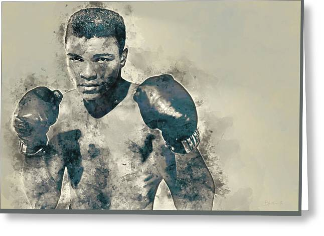 Muhammad Ali, The Greatest Greeting Card by Dante Blacksmith