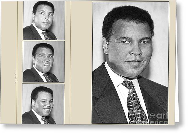 Boxer Digital Art Greeting Cards - Muhammad  Ali Greeting Card by Tony Pierleoni