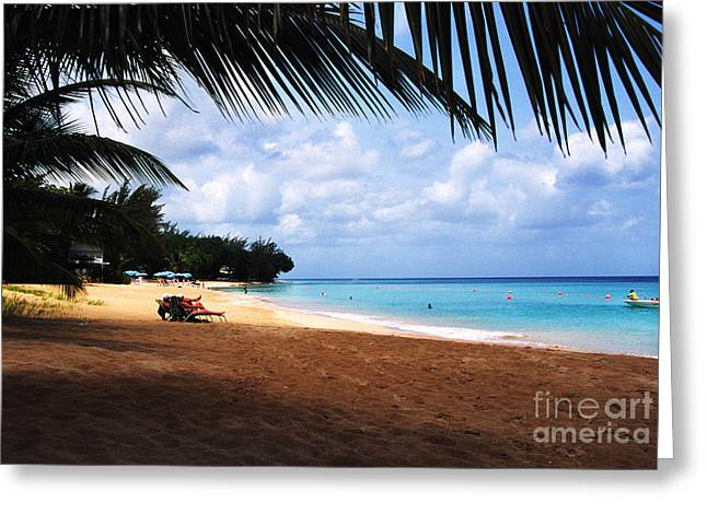 Mullen Greeting Cards - Mullens Beach Barbados Greeting Card by Thomas R Fletcher