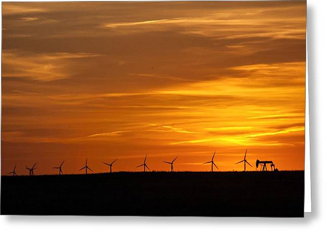 Generators Greeting Cards - Multi-Fueled Sunset Greeting Card by Anita Hohl