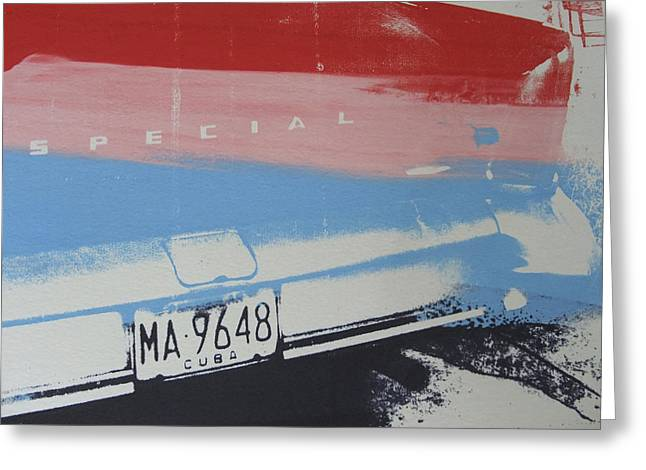 Blue Classic Car Greeting Cards - Multicolor fender Greeting Card by David Studwell