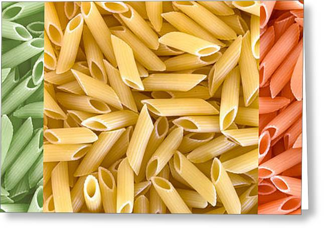 Multicolored Pasta Greeting Card by Germano Poli