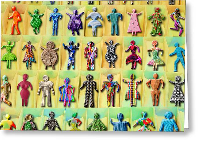 Toy Store Digital Art Greeting Cards - Multicultural Greeting Card by Grigorios Moraitis