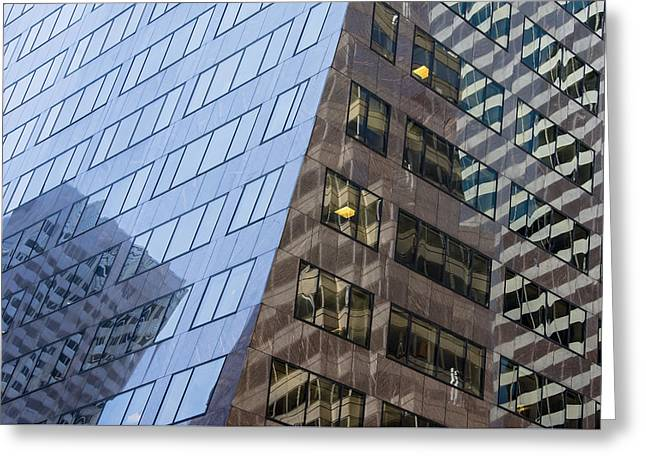 Multiple Buildings Nyc Greeting Card by KM Corcoran