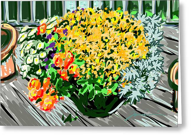 New England Ocean Greeting Cards - Mums Greeting Card by Jean Pacheco Ravinski
