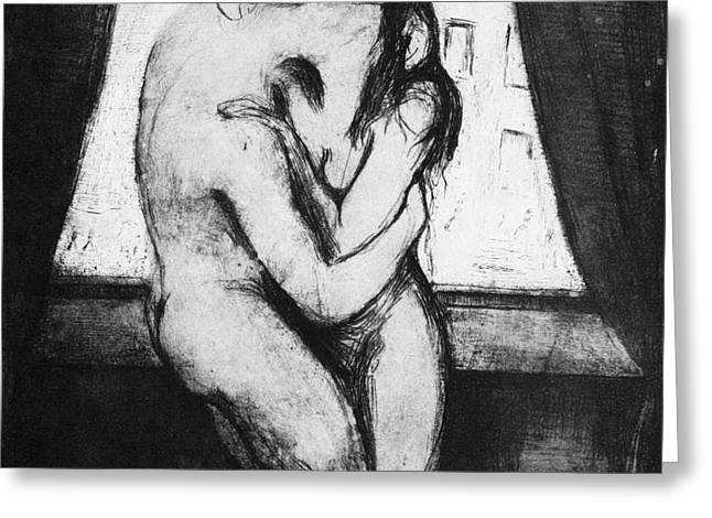 MUNCH: THE KISS, 1895 Greeting Card by Granger