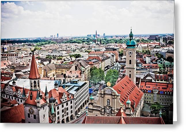 Munich Greeting Cards - Munich Greeting Card by Dean Farrell
