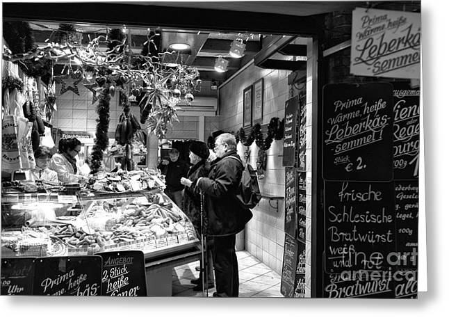 Deli Greeting Cards - Munich Food Order Greeting Card by John Rizzuto