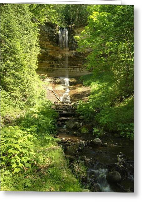 Waterfall Photography Greeting Cards - Munising Falls Greeting Card by Michael Peychich