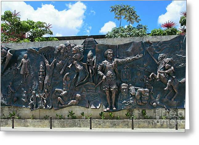 Slavery Greeting Cards - Mural depicting the history of Cuba at Parque Peralta Greeting Card by John Malone