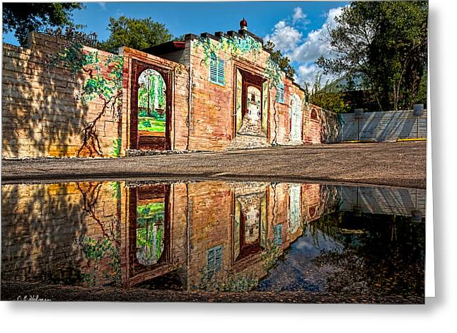Mural Reflected Greeting Card by Christopher Holmes