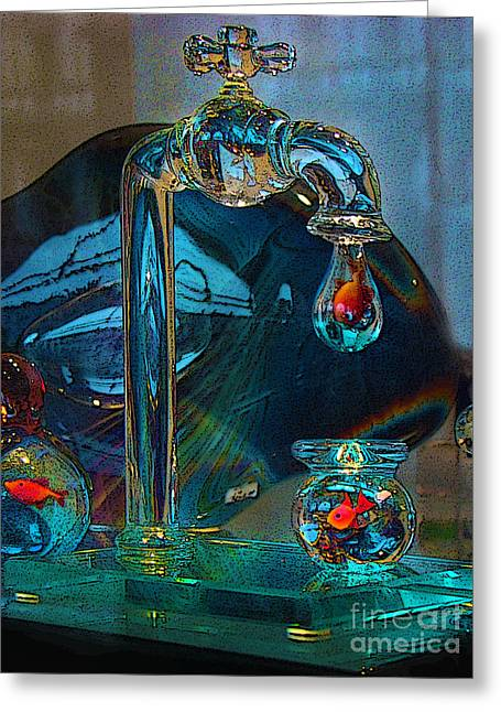 Tap Greeting Cards - Murano Fish In Venice Italy Greeting Card by Al Bourassa