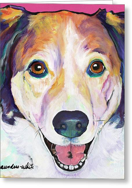 Pat Saunders-white Greeting Cards - Murphy Greeting Card by Pat Saunders-White