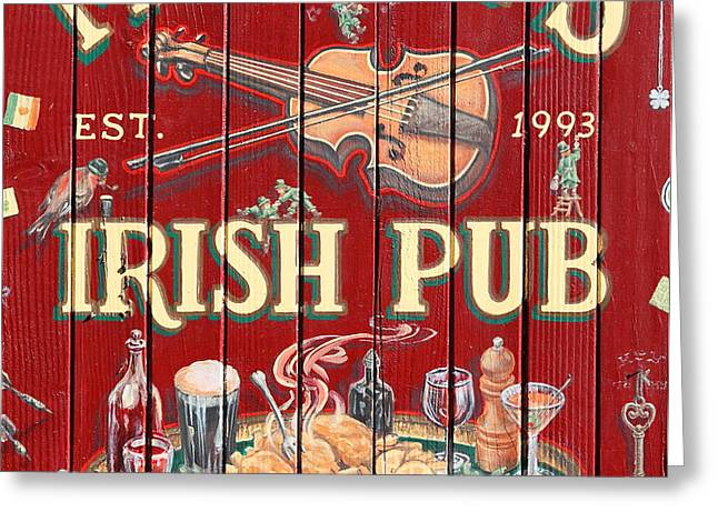 Murphy's Irish Pub - Sonoma California - 5D19290 Greeting Card by Wingsdomain Art and Photography
