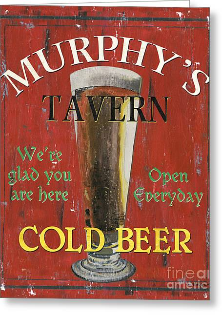 Beer Paintings Greeting Cards - Murphys Tavern Greeting Card by Debbie DeWitt
